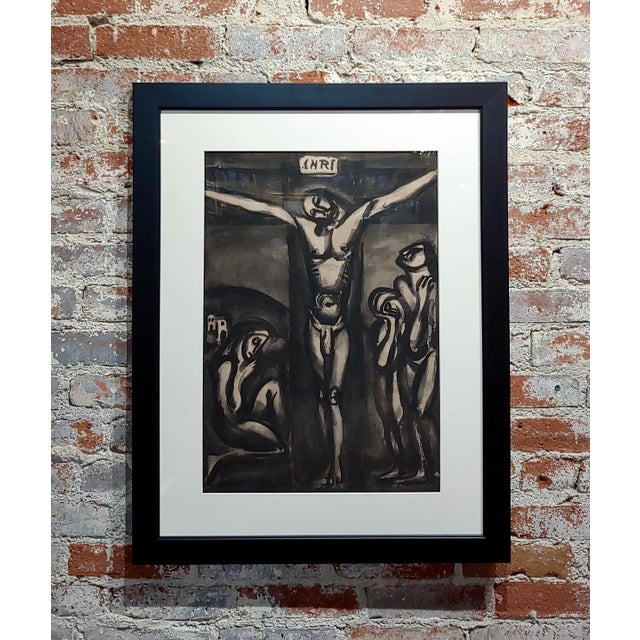 "Glass Georges Rouault ""Love One Another"" 1948 Aquatint and Drypoint Etching For Sale - Image 7 of 7"