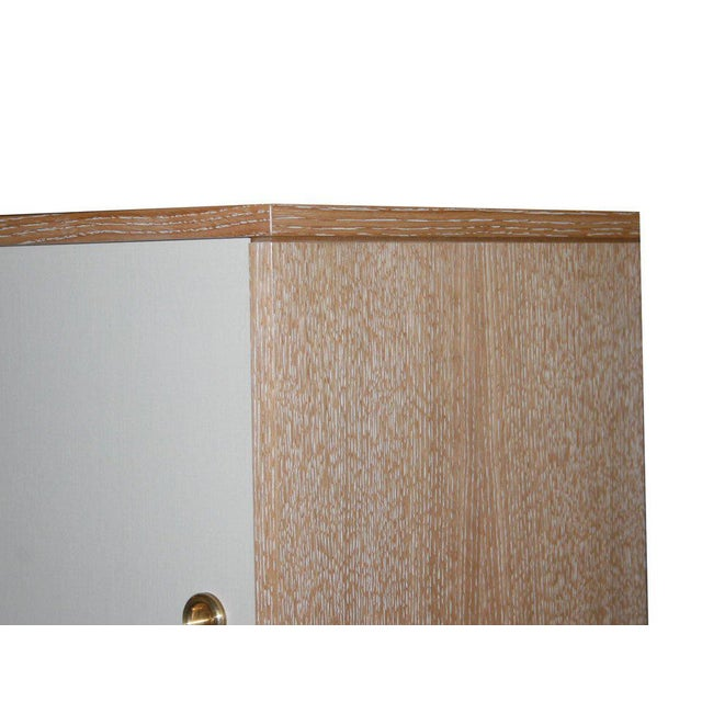 Customizable Bishop Lacquered Linen Door Console For Sale In New York - Image 6 of 9