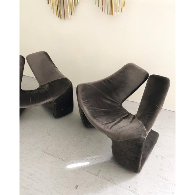 """Kwok Hoi Chan 1960s Vintage Space Age """"Zen"""" Lounge Chairs Designed by Kwok Hoi Chan for Steiner Paris For Sale - Image 4 of 7"""