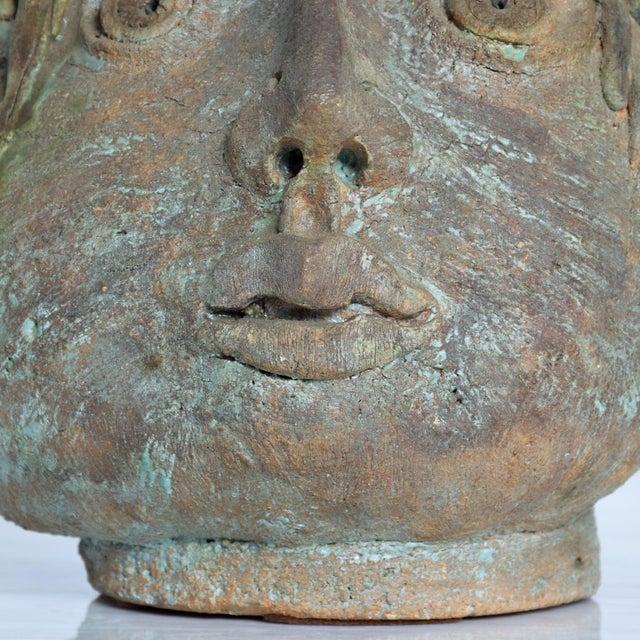 Brutalist Brutalist Mid-Century Modern Pottery Vase Picasso Attr. For Sale - Image 3 of 10
