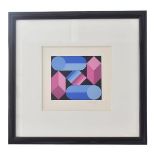 Victor Vasarely Stri-Dio Print For Sale