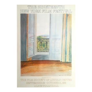 "Vintage 1981 Original Lithograph Print "" 19th New York Film Festival "" David Hockney Grand Hotel Poster 1970"