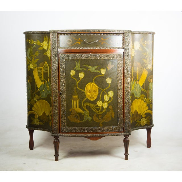 20th C. Chinoiserie Carved Mahogany Console Cabinet For Sale - Image 13 of 13