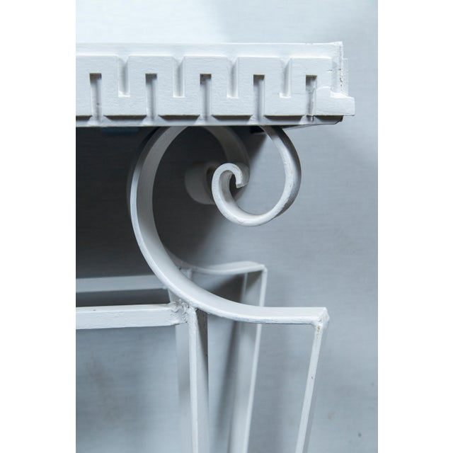 Mid-Century Modern Dorothy Draper Style Wrought Iron Console For Sale - Image 3 of 11