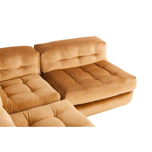 Mah Jong First Edition Modular Sofa in Gold Velvet by Roche Bobois For Sale - Image 10 of 13
