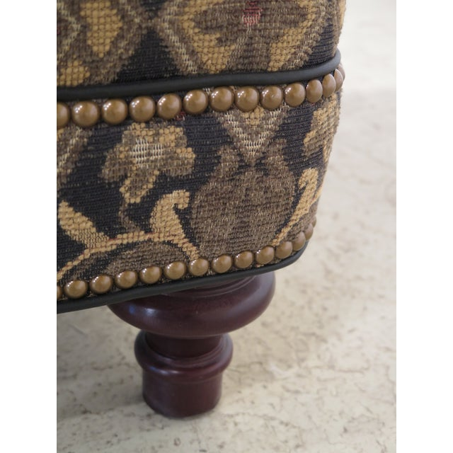Textile Hancock & Moore Tarleton Upholstered Chair & Ottoman - a Pair For Sale - Image 7 of 13