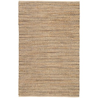 Jaipur Living Canterbury Natural Tan/ Black Area Rug - 5′ × 8′ For Sale