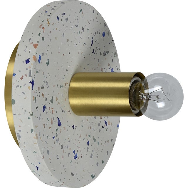 Zin White And Multicolour Terrazzo Wall Sconce For Sale - Image 6 of 6