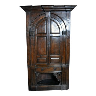 English Corner Cabinet For Sale