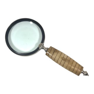 Faux Horn Handle Magnifying Glass For Sale
