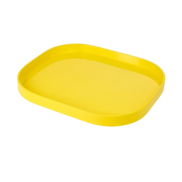Contemporary Miles Redd Collection Medium Stacking Tray in Marigold Yellow For Sale - Image 3 of 3