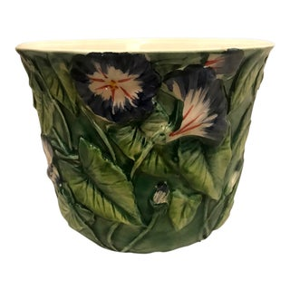 1950s Vintage Italian Majolica Planter For Sale