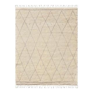 Casablanca Ivory Wool Area Rug - 8′9″ × 11′9″