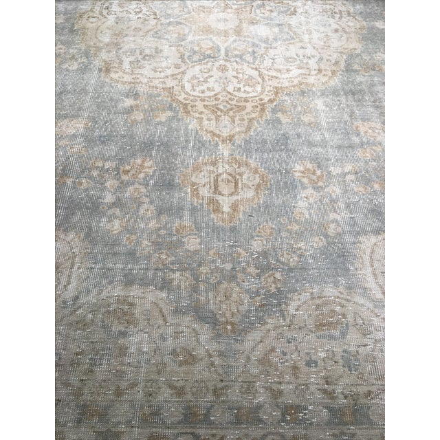 "Distressed Turkish Oushak Rug - 9'5"" X 12'8"" - Image 8 of 9"