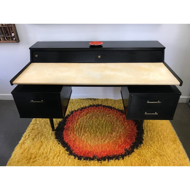 This gorgeous mid century modern floating desk was designed by Edward Wormley for Drexel's Biscayne line. Besides being a...