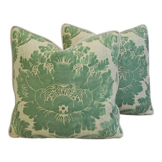Custom Italian Mariano Fortuny Vivaldi Pillows - a Pair For Sale