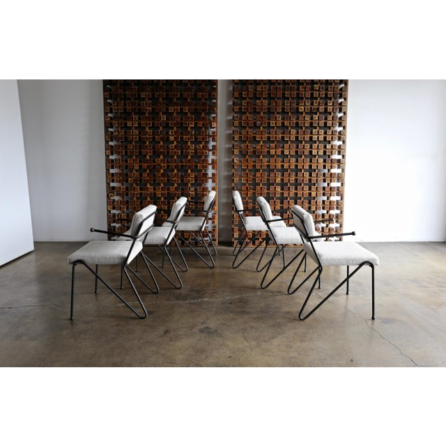 1950 George Kasparian Dining Chairs - Set of 6 For Sale In Los Angeles - Image 6 of 13