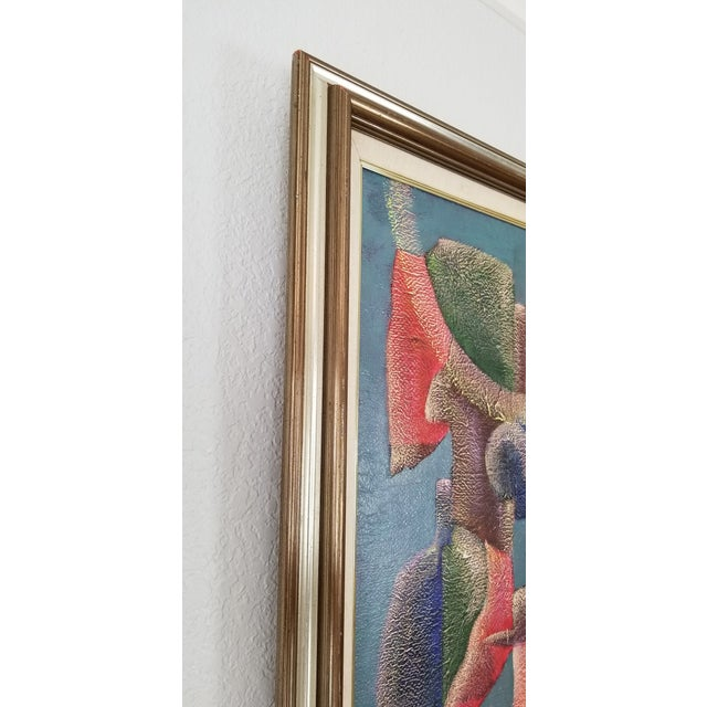 1990 Anna Goncharova Postmodern Style Abstract Painting For Sale - Image 9 of 13