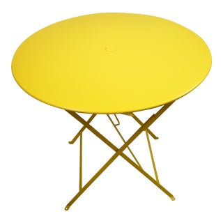 Golden Yellow Fermob Bistro Table For Sale