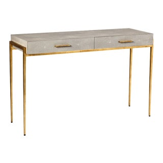 Interlude Home Morand Console/ Desk - Taupe For Sale
