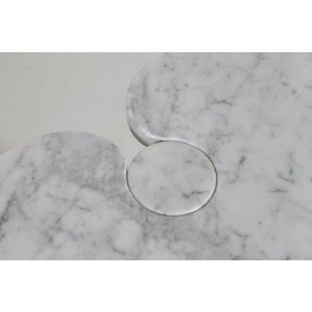 Angelo Mangiarotti Angelo Mangiarotti Carrara Marble Table For Sale - Image 4 of 5