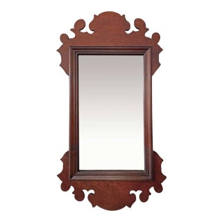 Late 20th Century Queen Anne Style Wall Mirror For Sale