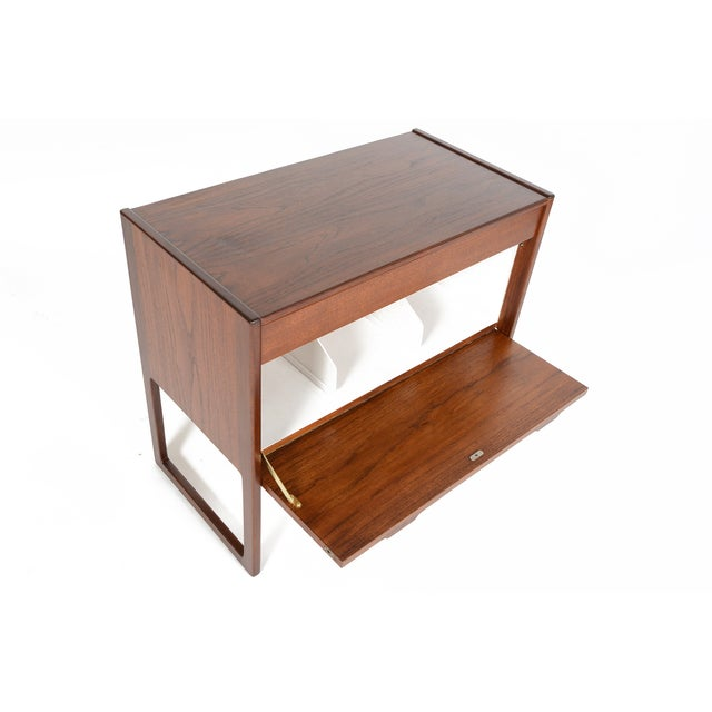 Danish Modern Teak and Grasscloth Entry Chest - Image 5 of 10