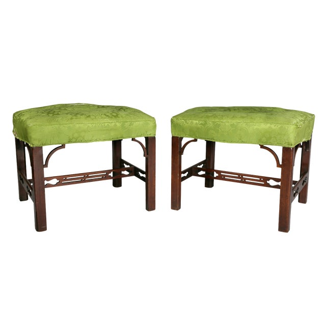 George III Mahogany Footstools - a Pair For Sale