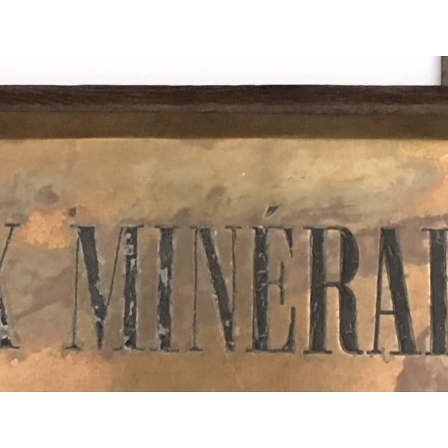 Early 21st Century French Faux Minerales Mineral Water Advertising Sign For Sale - Image 5 of 13