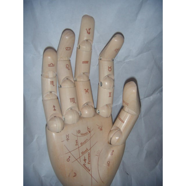 Flexible Wood Palmistry Hand / Artist Form - Image 5 of 9