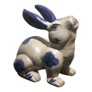 Vintage Italian Hand Painted Rabbit Figurine For Sale
