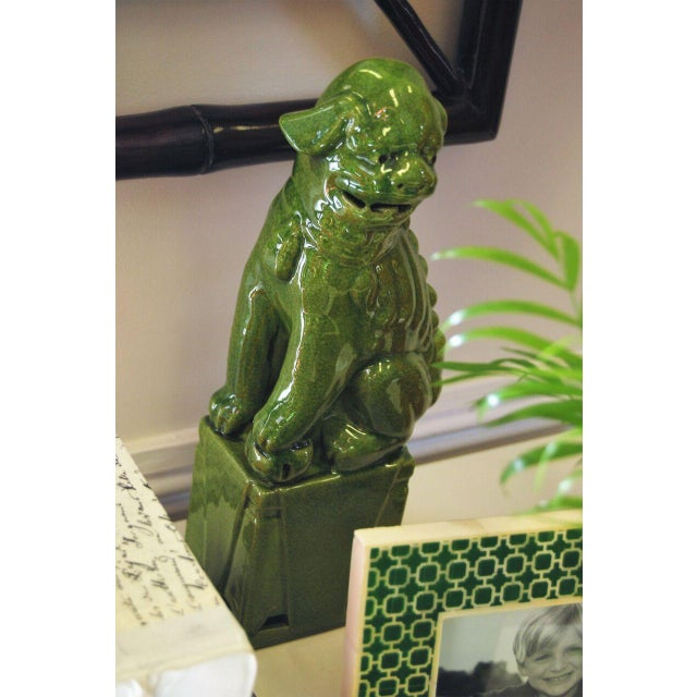 Green Foo Dogs - A Pair - Image 2 of 3