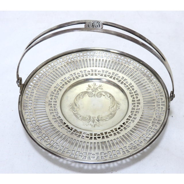 Antique Sterling Silver Mint - Candy Serving Basket For Sale - Image 12 of 12