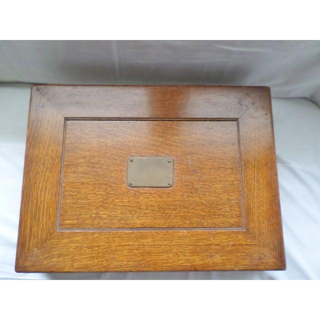 Antique Golden Oak Silver Chest /Service Box for Flatware For Sale - Image 11 of 11