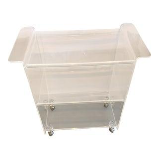 Contemporary Lucite 3-Shelf Bar Cart