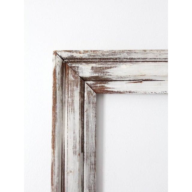 Vintage Whitewash Wooden Frame Chairish