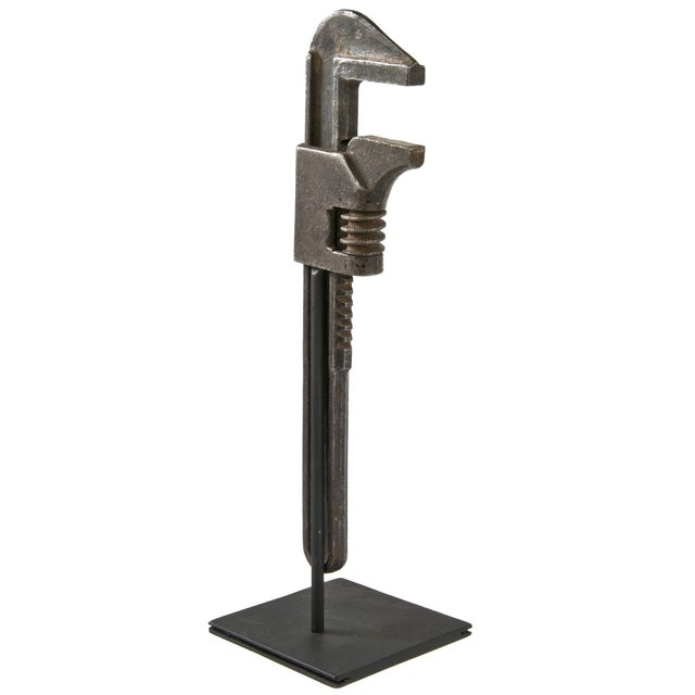 Antique Ford Wrench on Reclaimed Iron Stand - Image 2 of 3