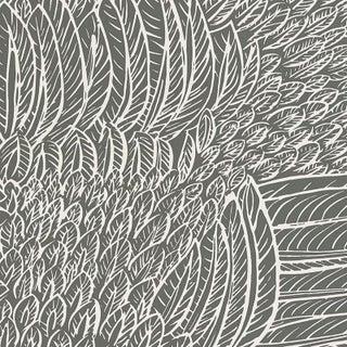 Sample - Schumacher Featherfest Wallpaper in Slate Preview