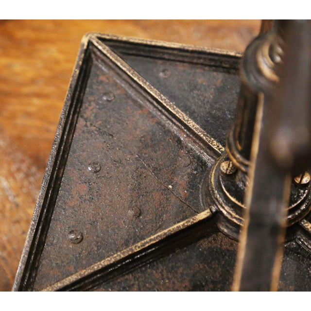 19th Century French Silver and Gilt Painted Wrought Iron Book Binding Press For Sale - Image 11 of 12