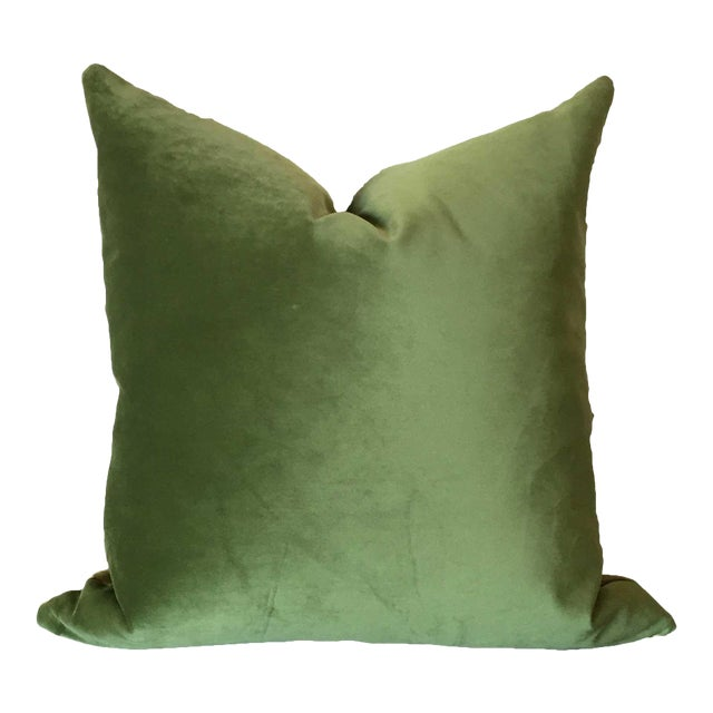 Two-Tone Green Pillow For Sale