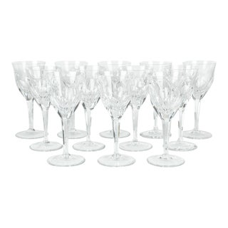 Vintage Baccarat Crystal Wine Glasses - Set of 12 For Sale