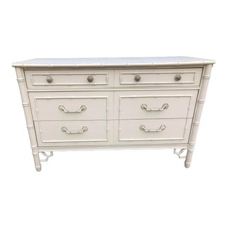 Thomasville Chinoiserie Faux Bamboo Dresser For Sale
