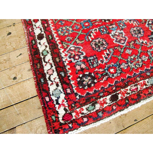 """Red Boho Chic Persian Rug - 1'11"""" X 3' - Image 6 of 7"""