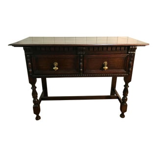20th Century Jacobean Console Table For Sale