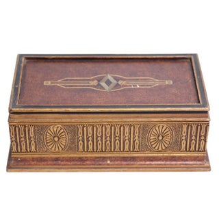 Italian Golden Jewelry Box For Sale