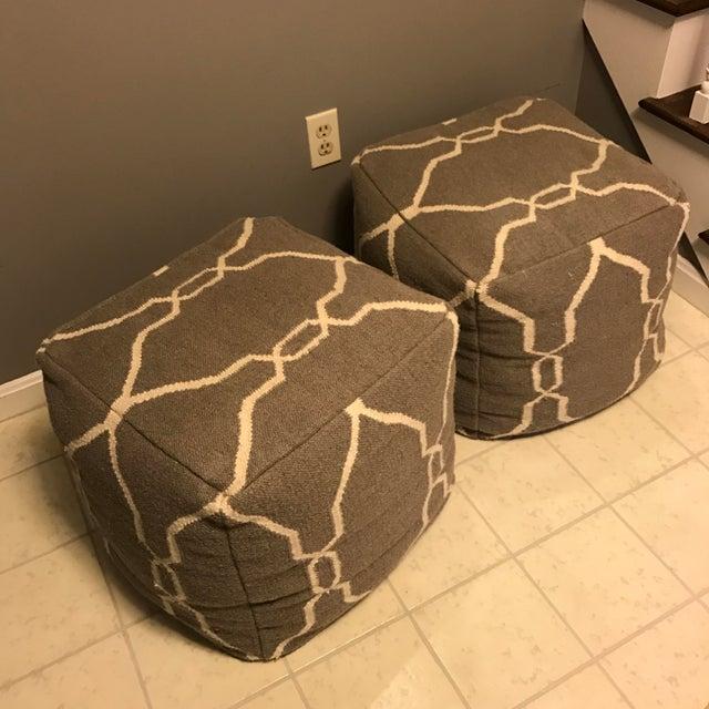 Jill Rosenwald Dhurrie Cube Poufs - Pair - Image 2 of 7