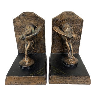 Rolls Royce Flying Lady Bookends - a Pair For Sale