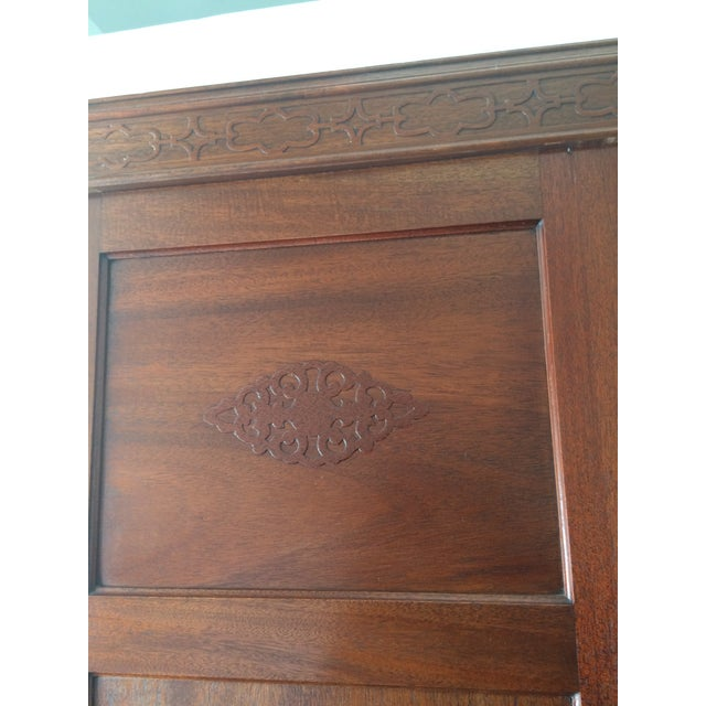 Antique Wooden Mirrored Armoire - Image 4 of 6