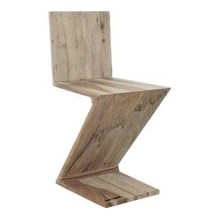 Minimalist Walnut Version of the Famous Reitveld 280 Zig Zag Chair For Sale
