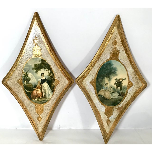 Vintage Italian Florentine Wall Hangings - A Pair For Sale - Image 9 of 9